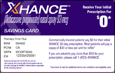XHANCE Copay Savings Card