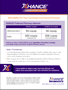 XHANCE Xtended Patient Support Affordability Flashcard
